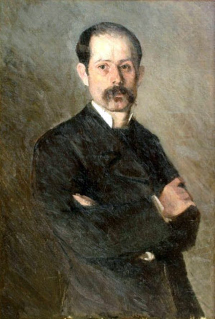 Ion Andreescu, Self Portrait, Portraits of Painters, Fine arts, Portraits of painters blog, Paintings of Ion Andreescu, Painter Ion Andreescu