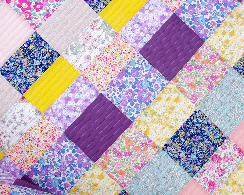 Alice Caroline Exclusive Liberty Tana Lawn Quilt | © Red Pepper Quilts 2018
