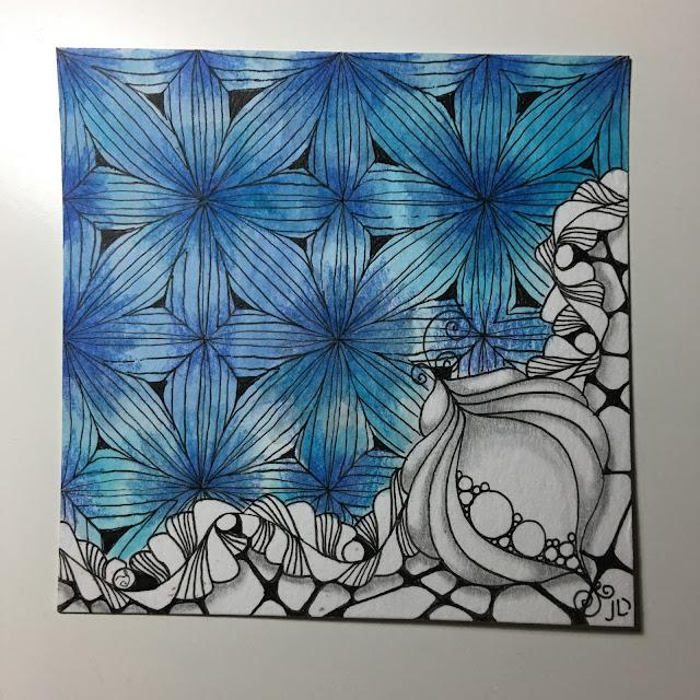Fassett Zentangle for Travelling Tangles Project by Stephanie Jennifer