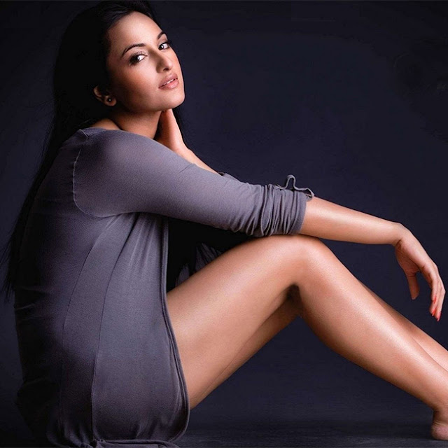Sonakshi Sinha is making all hell break loose with her sinfully sexy appearance in this photograph.