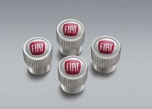 Fiat Valve Stem Caps - Silver