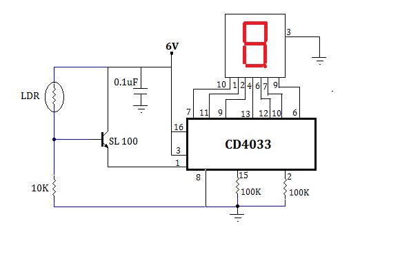 Simple ObjectVisitors Counter Circuit using LDR | MyCircuits9