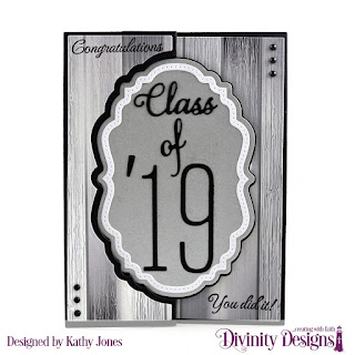 Divinity Designs Stamp Set: The Future, Paper Collection: Weathered Wood, Custom Dies: Long & Lean Numbers, Long & Lean Letters, Vintage Label Flip Fold with Layers, Grad, Double Pierced Vintage Labels
