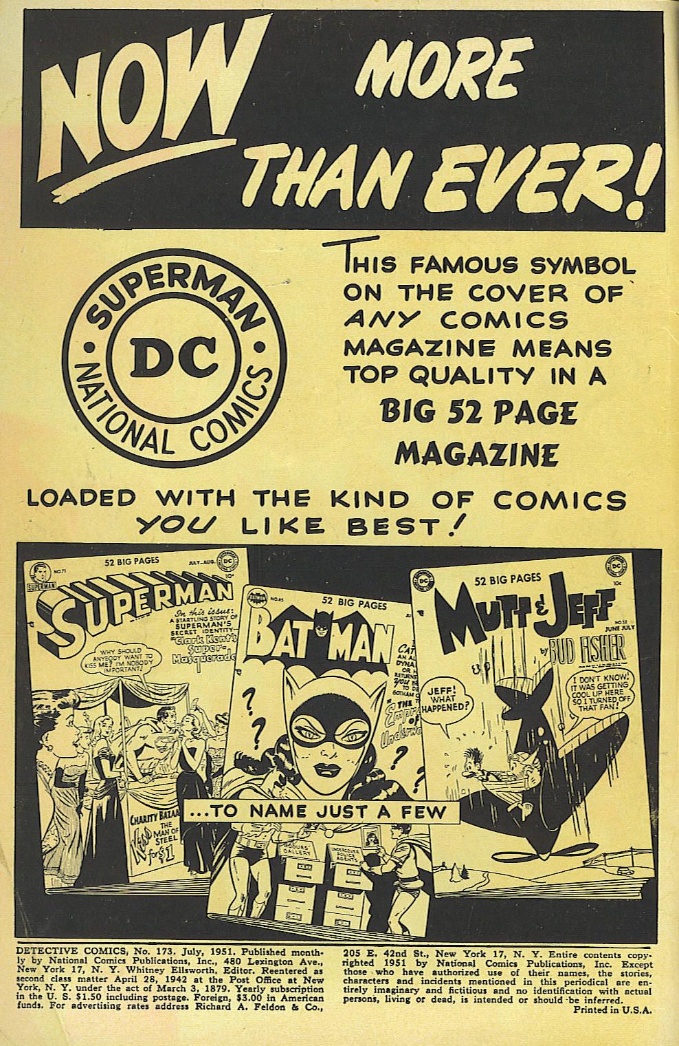 Read online Detective Comics (1937) comic -  Issue #173 - 3