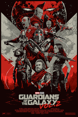 San Diego Comic-Con 2017 Guardians of the Galaxy Vol. 2 Movie Poster Variant Screen Print by Ken Taylor x Mondo x Marvel