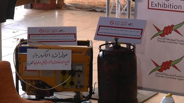 Se exhiben productos prohibidos por Israel en bazar de Palestina