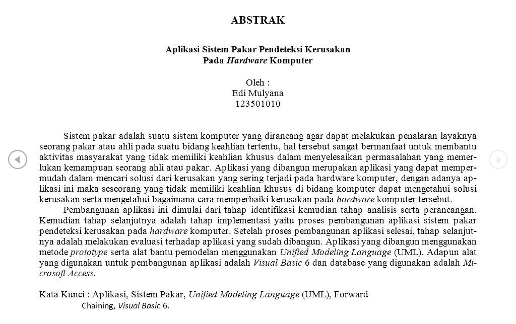 Contoh Abstrak Untuk Karya Ilmiah Skripsi Makalah Paper Dll