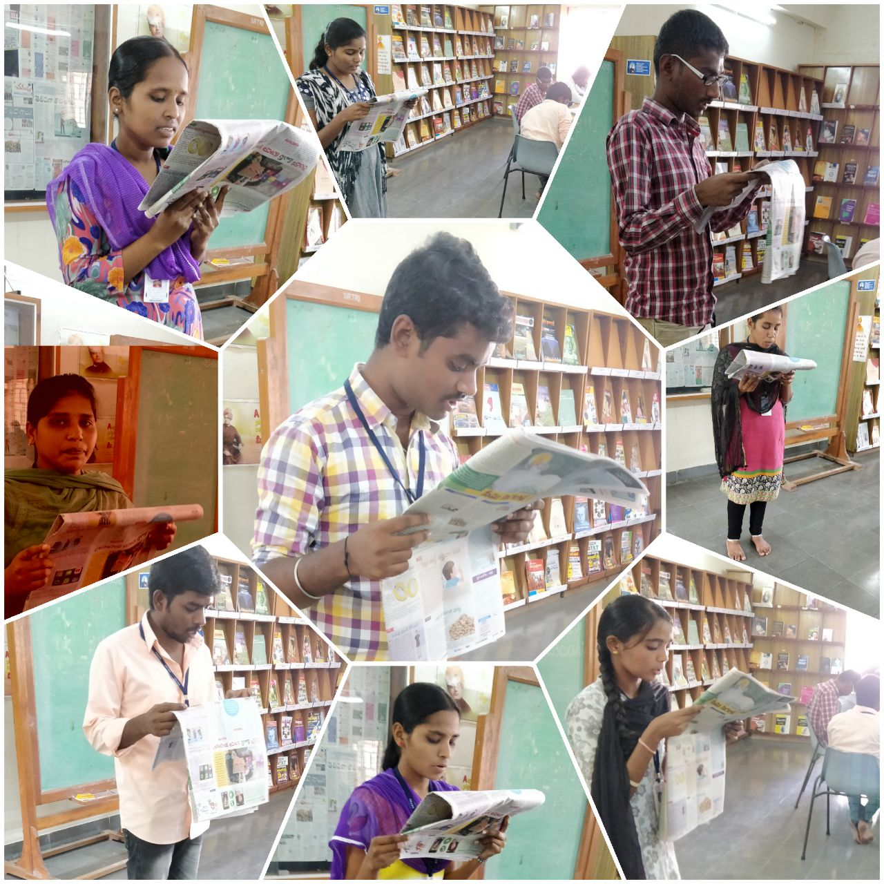 "students reading ""information technology articles "" at srtri library"