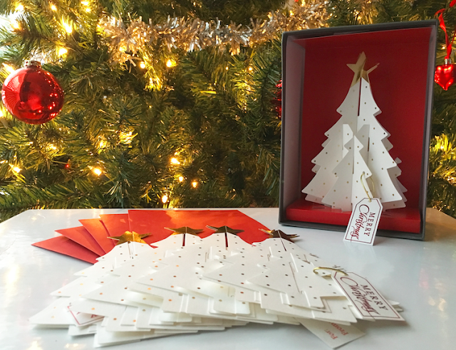Wonder-Folds White Christmas Tree Cards - #LoveHallmarkCA