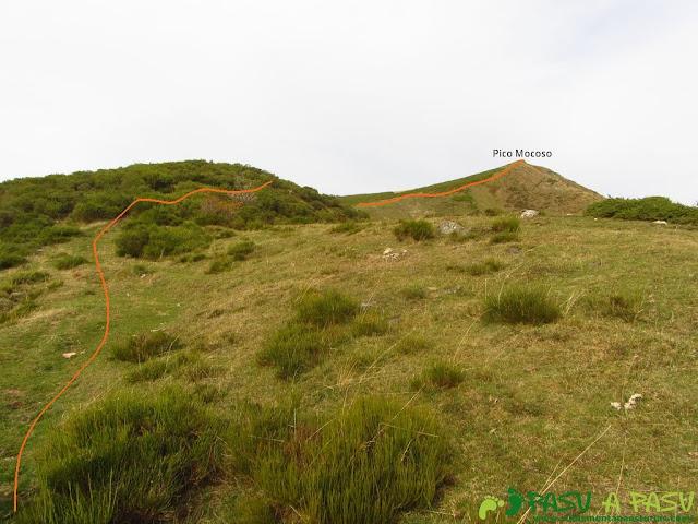 Llegando al pico Mocoso
