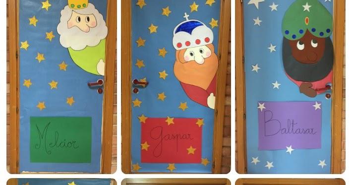 Navidad en el cole aula de elena for Decorar las puertas en navidad