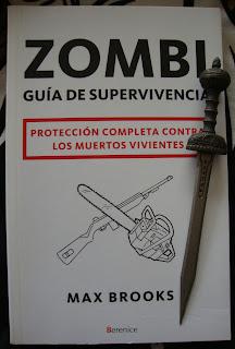 Portada del libro Zombi. Guía de supervivencia, de Max Brooks