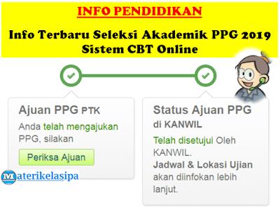 Info Terbaru Seleksi Akademik PPG 2019 Sistem CBT Online