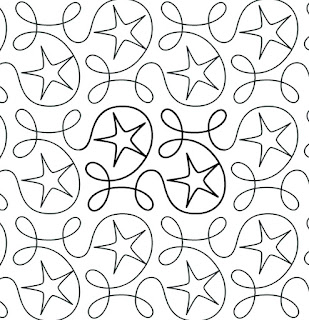 'Ginger Star' digital pantograph by Apricot Moon