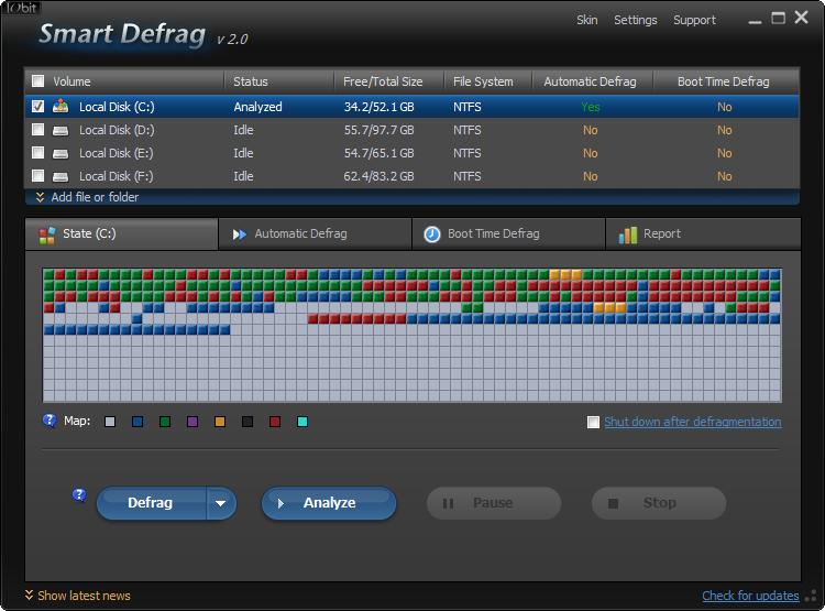 IObit Smart Defrag.