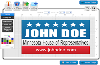 Political Banner Template in the Online Designer