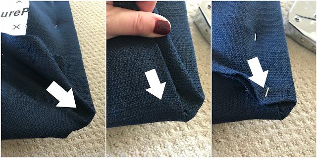 How to cover corners on headboard