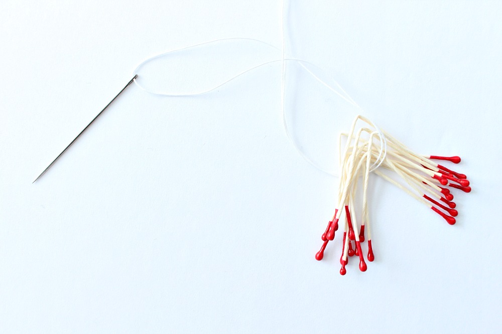 How to affix faux stamens