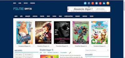 Blogger Templates Filme Gratis 3 colunas
