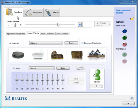 how to change the realtek audio input win 7