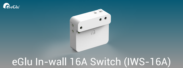 eGlu In-wall Switch 16Amps