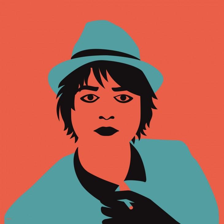 Atractivos gráficos minimalistas de cantantes famosos.