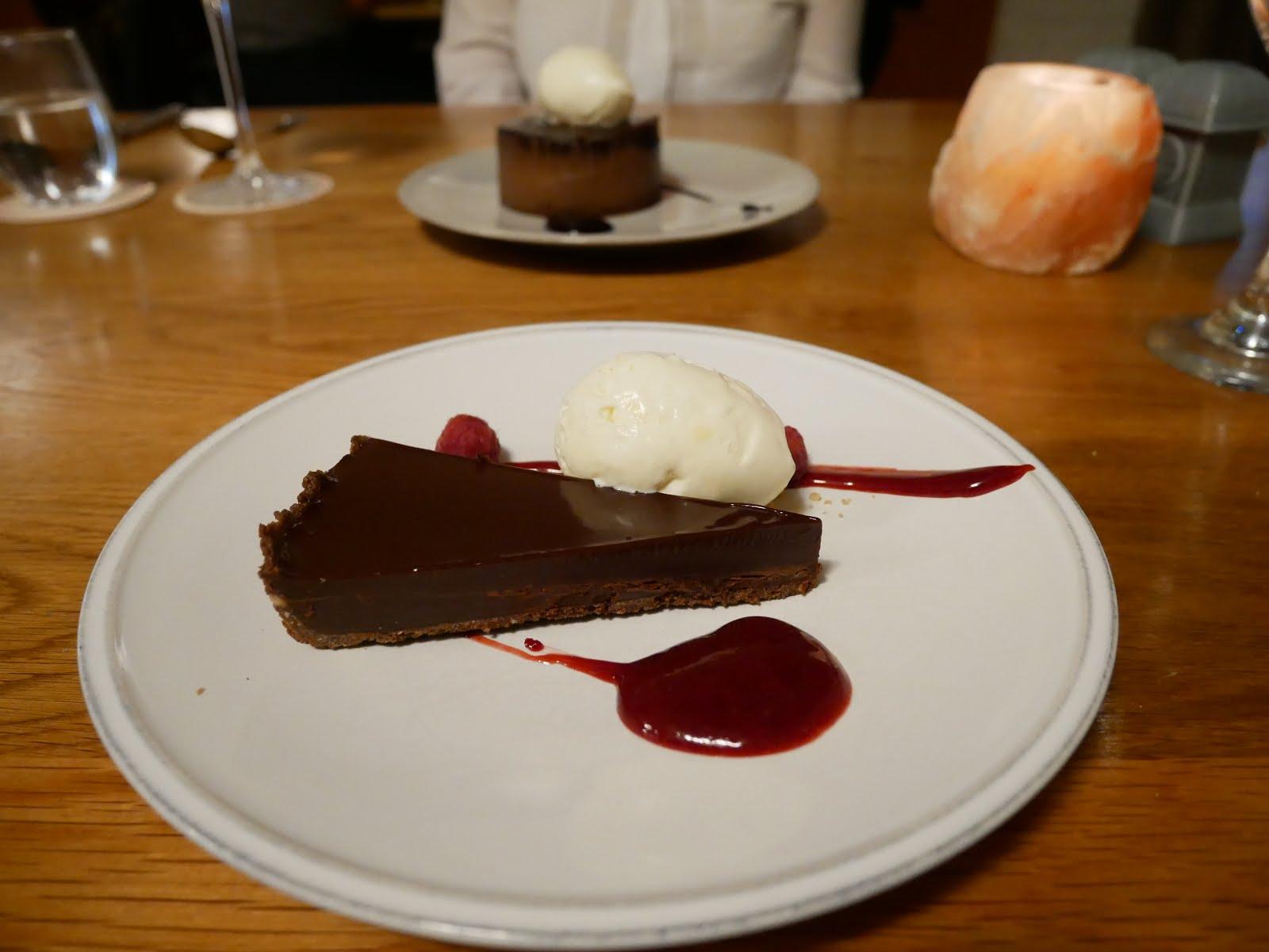 St Mary's Inn chocolate tart