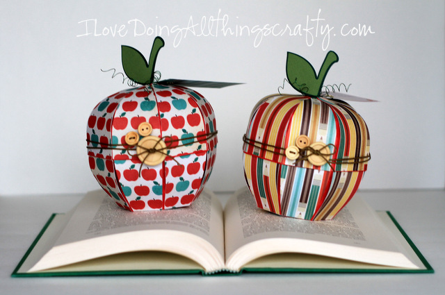 3D Apple Treat Box | Back to School Gift For Teacher | SVGCuts