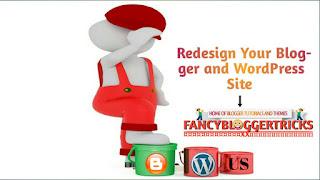 Redesign you blogger blog