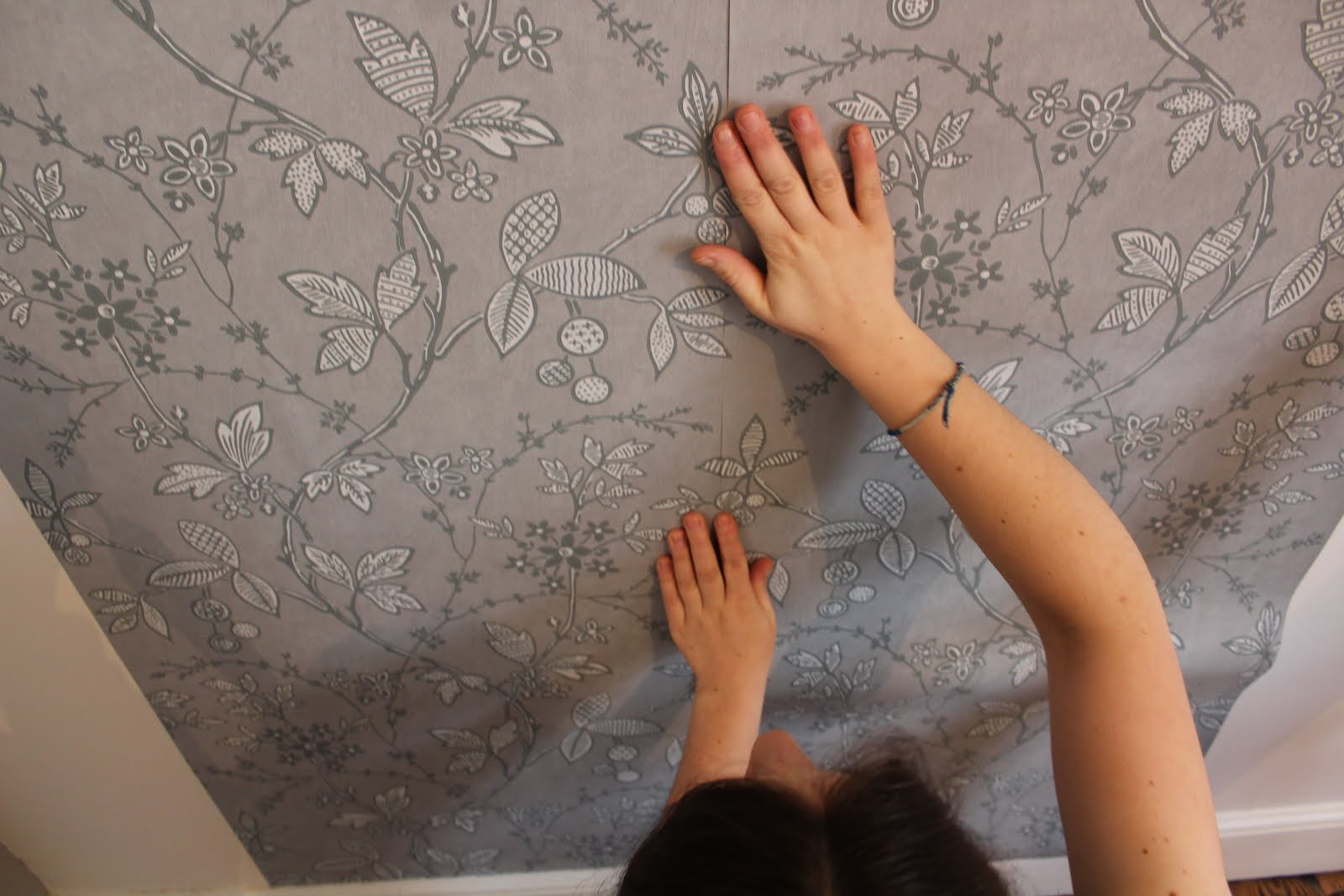 hanging your own wallpaper DIY