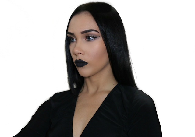 beauty, makeup, youtube, catherine delves, youwishyou, bbloggers, cosmetics, cut crease, cleopatra makeup, black lips, midnight liquid lipstick, Anastasia Beverly Hills,