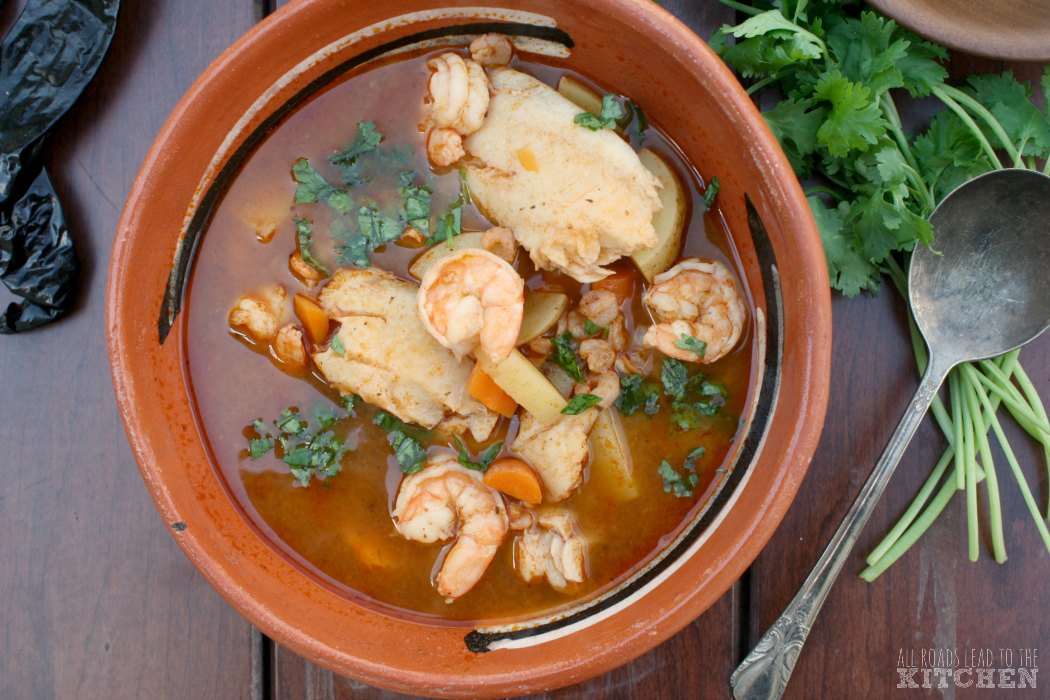 Caldo de Camaron y Pescado (Brothy Shrimp and Fish Soup)