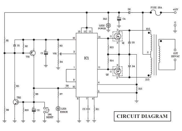 Voltage Inverter 12VDC to 110/220VAC (Installation Voltage