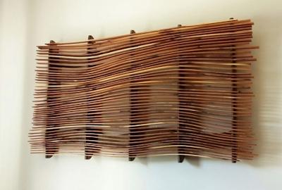 hiasan dinding antik dari kayu bekas