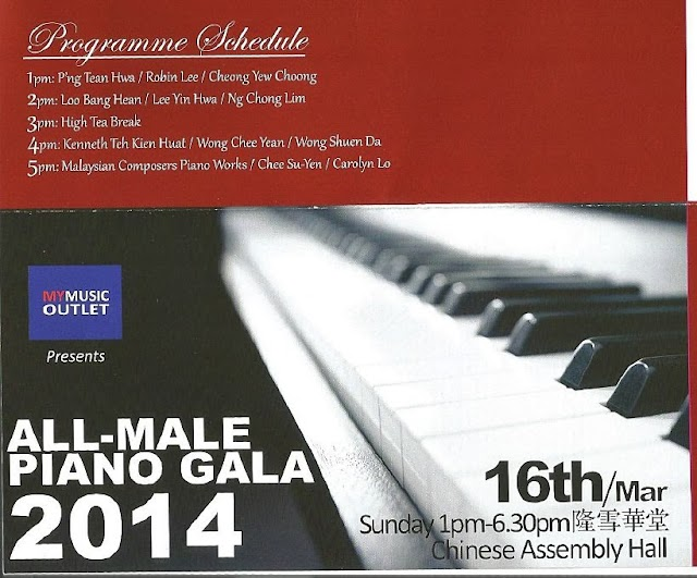 Piano Gala 2014 at KL Selangor Chinese Assembly Hall on 16 March