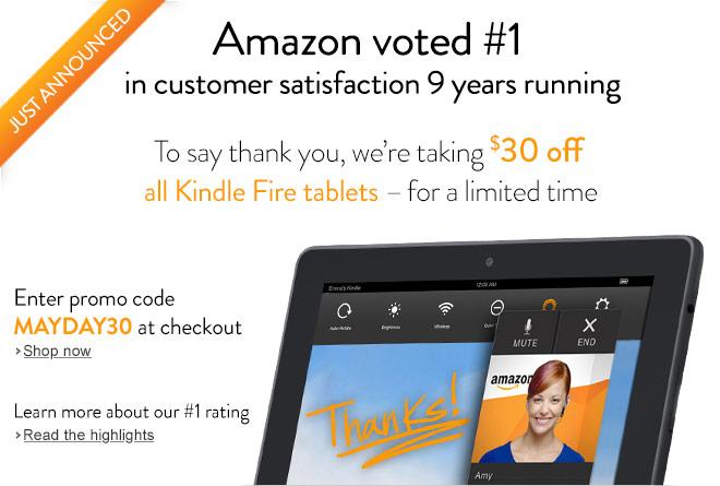 Kindle Fire Tablets Sale - $30 Off: Kindle Fire HD 7