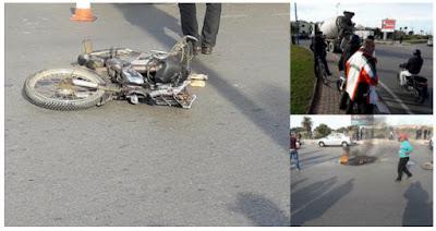 عاجل وبالصور.. شاحنة تنهي حياة سائق دراجة نارية بالمحمدية