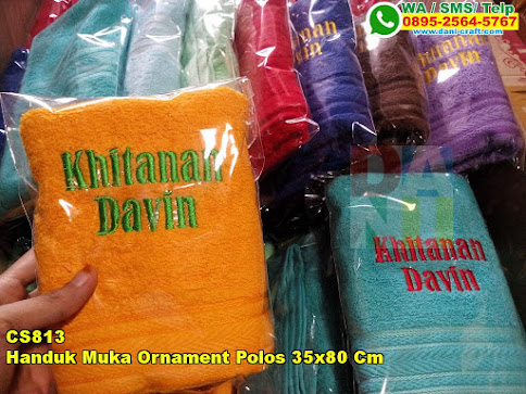 Toko Handuk Muka Ornament Polos 35x80 Cm