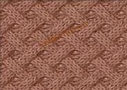 Vyazanie Prostoi uzor spicami iz licevih i iznanochnih petel so shemoi i opisaniem