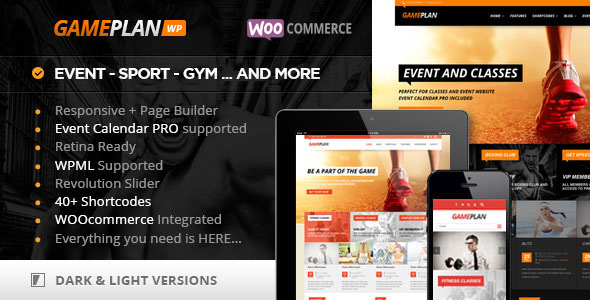 Free Download Gameplan V1.5.7 Event and Gym Fitness WordPress Theme