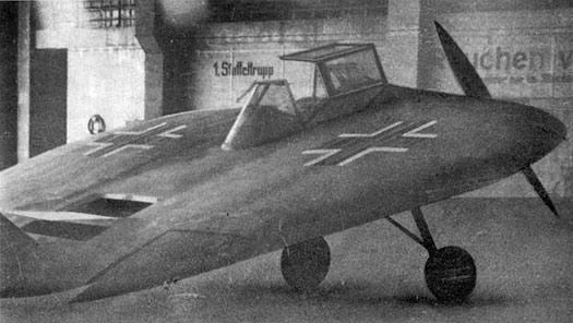 Tecnología nazi, similar a un platillo volador.