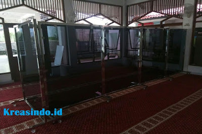 Harga Hijab Masjid Stainless Akrilik