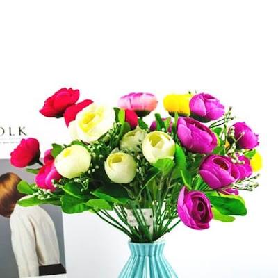 Bunga Plastik / Bunga Artificial Camellia (Seri A61)