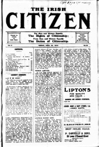 Front page of The Irish Citizen newspaper, 1912