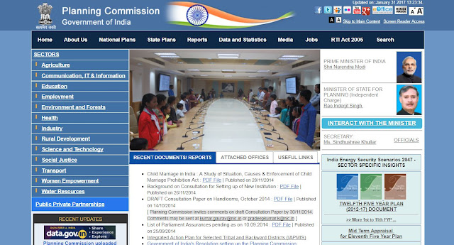 Official portal of Planning commission