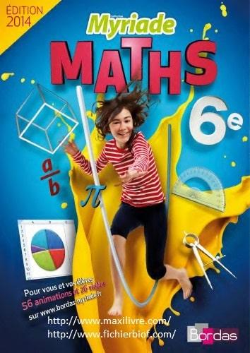 Myriade 6e * Manuel numérique élève (Ed. 2014)