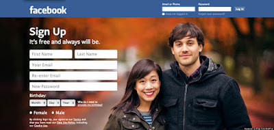 Facebook New Landing Page