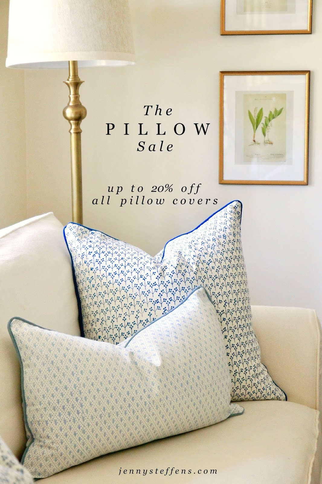 Jenny Steffens Hobick: The Spring Pillow Sale | Pillows Around Our Home