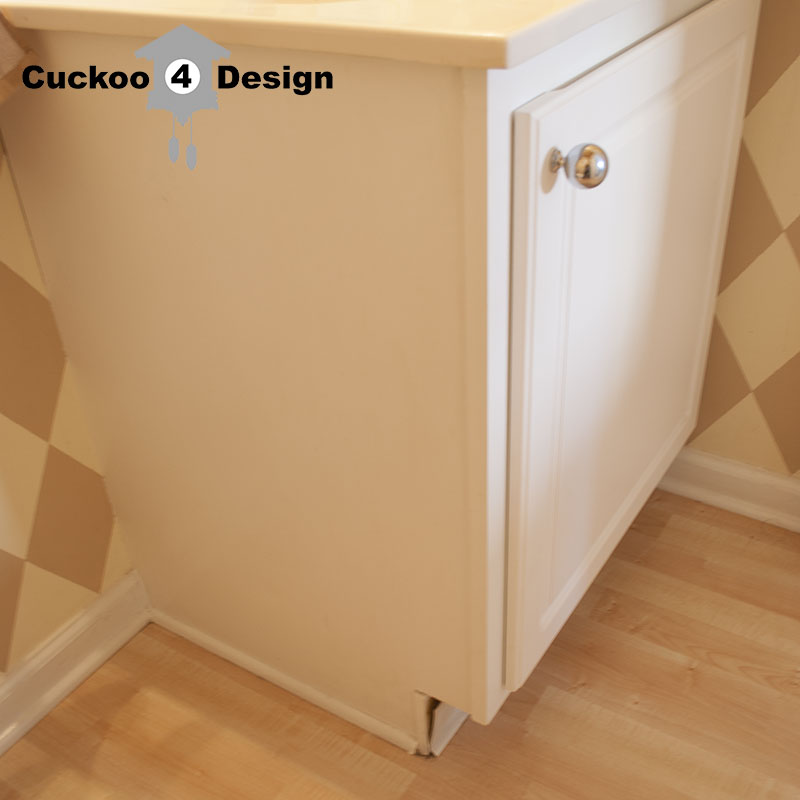 Fixing an ugly vanity kick plate | Cuckoo4Design