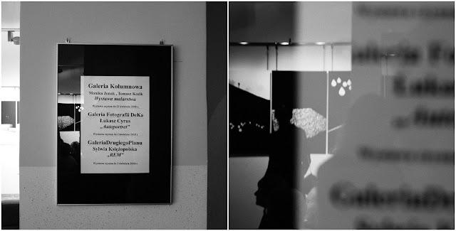 """""""Autoportret"""" - wystawa fotografii odklejonej Łukasza Cyrusa w rybnickiej Galerii DeKa podczas Wieczoru Sztuk."""